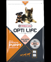 OPTI LIFE PUPPY SENSITIVE ALL BREED ΜΕ ΣΟΛΩΜΟ & ΡΥΖΙ